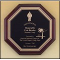 Octagonal Rosewood Stained Piano-Finished Plaque
